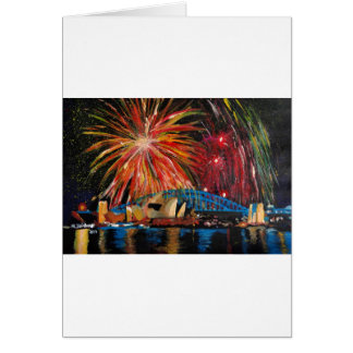 Sydney Firework at Opera House Greeting Card