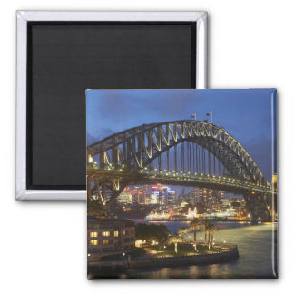 Sydney Harbor Bridge and Park Hyatt Sydney Hotel Square Magnet