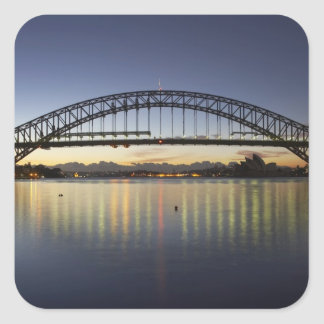 Sydney Harbor Bridge and Sydney Opera House at Square Sticker