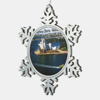 Sydney Harbor Oprea House Snowflake Pewter Christmas Ornament
