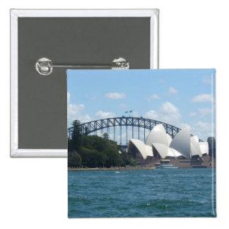 sydney harbour 15 cm square badge