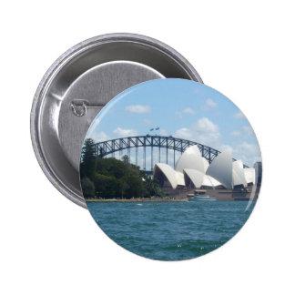sydney harbour 6 cm round badge