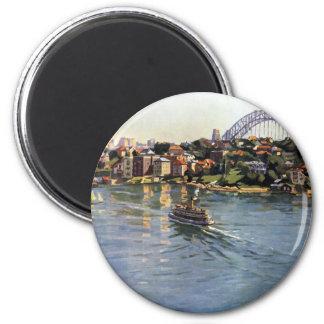Sydney Harbour, Australia 6 Cm Round Magnet