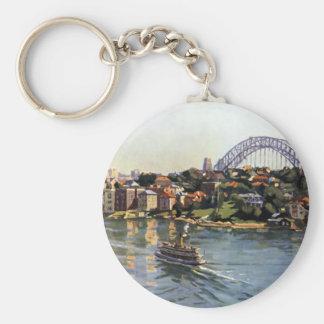 Sydney Harbour, Australia Basic Round Button Key Ring