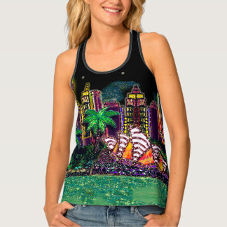 Sydney Harbour Australia by Sequin Dreams Studio Singlet