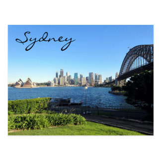 sydney harbour blue postcard