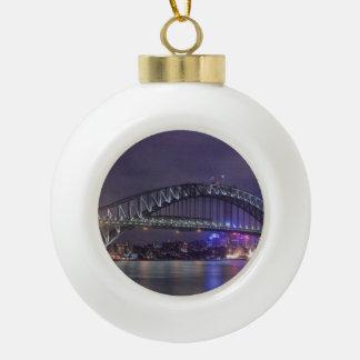 Sydney Harbour Bridge Austrailia Ceramic Ball Decoration