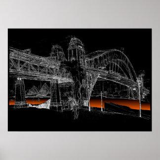 Sydney Harbour Bridge, Night Poster