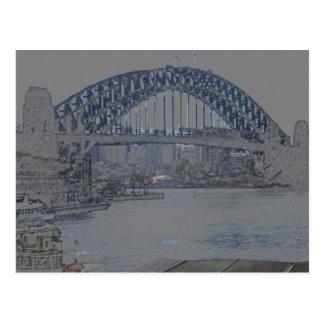 sydney harbour bridge post cards