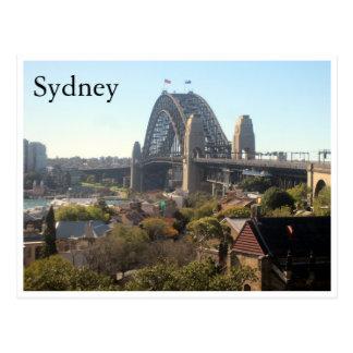 sydney harbour bridge view postcard