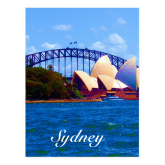 sydney harbour colours postcard