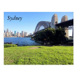 sydney harbour grass postcard