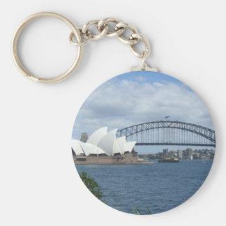 Sydney Harbour Key Ring Basic Round Button Key Ring