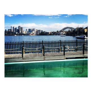 sydney harbour pool postcard