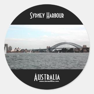 Sydney Harbour Round Sticker