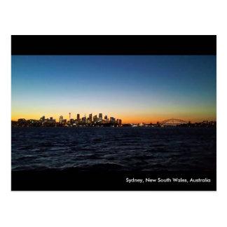 Sydney Landscape at Night Postcard