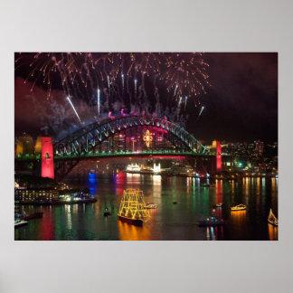 Sydney New Years Eve Fireworks Print
