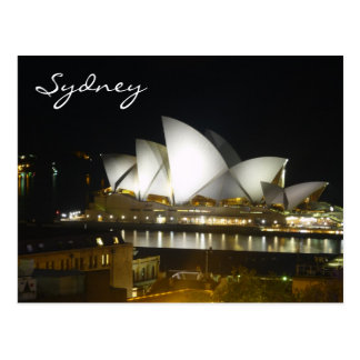 sydney night house postcard