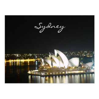 sydney night opera postcard