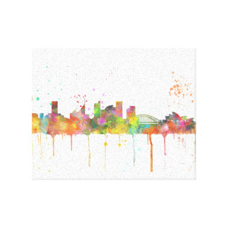 City skyline canvas prints