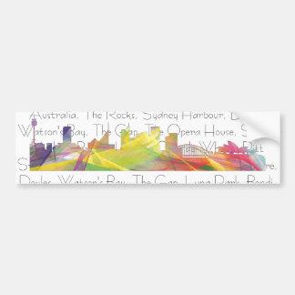 SYDNEY, NSW AUSTRALIA SKYLINE WB1 BUMPER STICKER