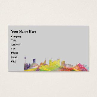 SYDNEY, NSW AUSTRALIA SKYLINE WB1 BUSINESS CARD