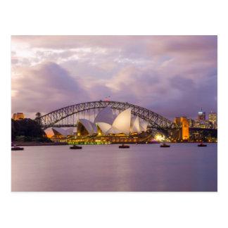 Sydney Opera and Harbour Bridge Postcard