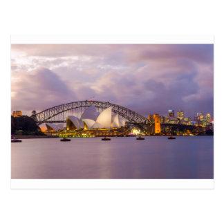 Sydney Opera at night Postcard
