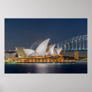 Sydney Opera at night Poster