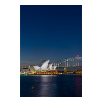 Sydney Opera at night Poster
