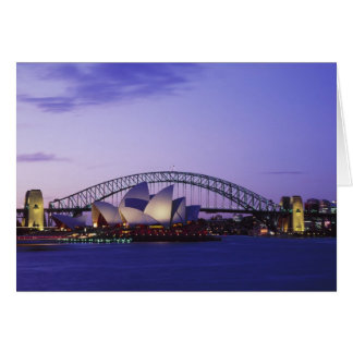 Sydney Opera House and Harbour, New South 2 Greeting Card