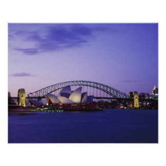 Sydney Opera House and Harbour New South 2 Posters
