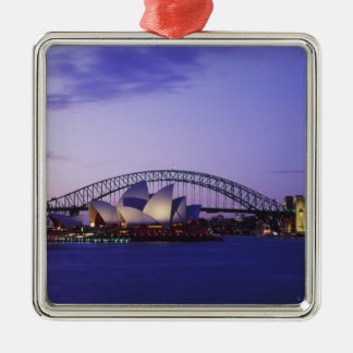 Sydney Opera House and Harbour, New South 2 Silver-Colored Square Decoration