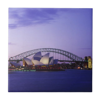 Sydney Opera House and Harbour, New South 2 Small Square Tile