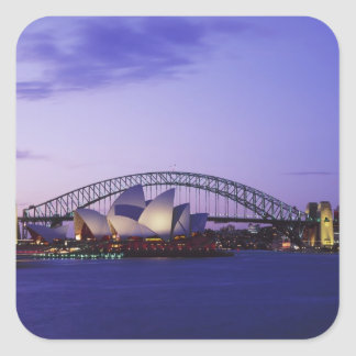 Sydney Opera House and Harbour New South 2 Square Sticker