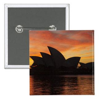 Sydney Opera House at Dawn, Sydney, New South 15 Cm Square Badge