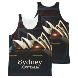 Sydney opera house at night All-Over print singlet