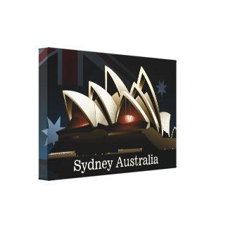 Sydney opera house at night canvas print