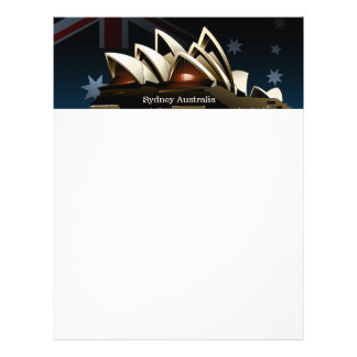 Sydney opera house at night flyer