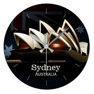 Sydney opera house at night large clock