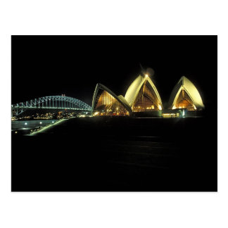 Sydney Opera House at night, New South Wales, 2 Postcard