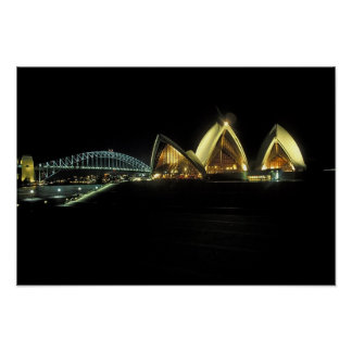 Sydney Opera House at night, New South Wales, 2 Poster