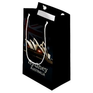 Sydney opera house at night small gift bag