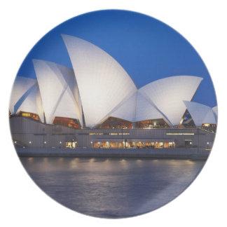 Sydney Opera House at Night, Sydney, New South Party Plates