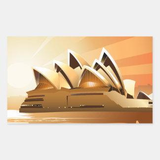 Sydney Opera House at sunrise Rectangular Sticker