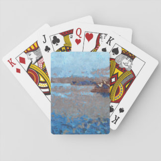 Sydney Opera house from a distance Poker Cards