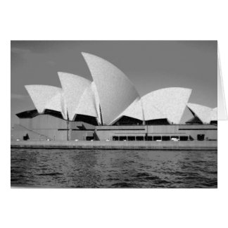Sydney Opera House in Black and White Card