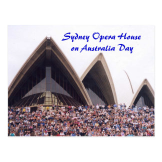 Sydney Opera House on Australia Day Postcard
