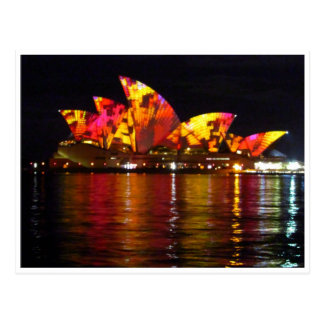 sydney opera house orange post card