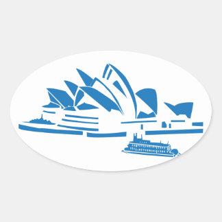 Sydney Opera House Oval Sticker